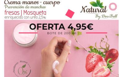 Crema de Manos Fresa y Rosa de Mosqueta