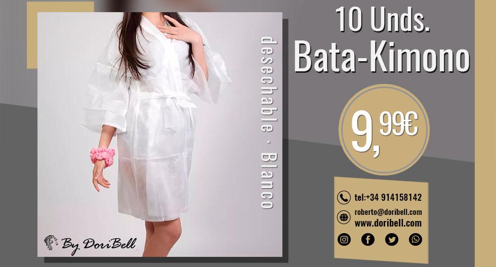 Bata Kimono Blanco Desechable 10und