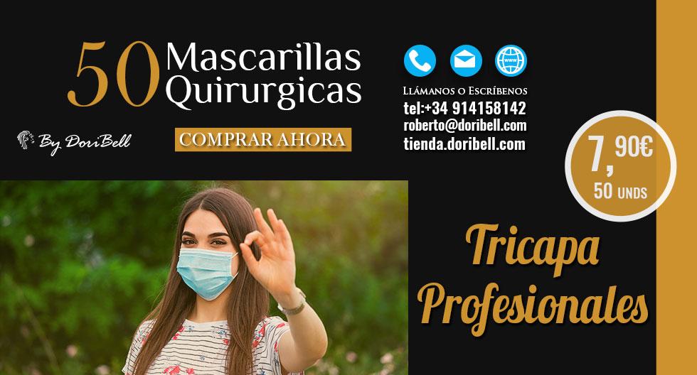 Caja 50 Mascarillas Quirúrgicas Tricapa