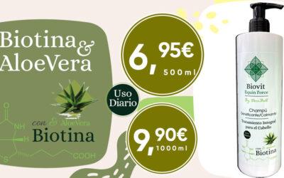 Champú con Biotina y Aloe Vera