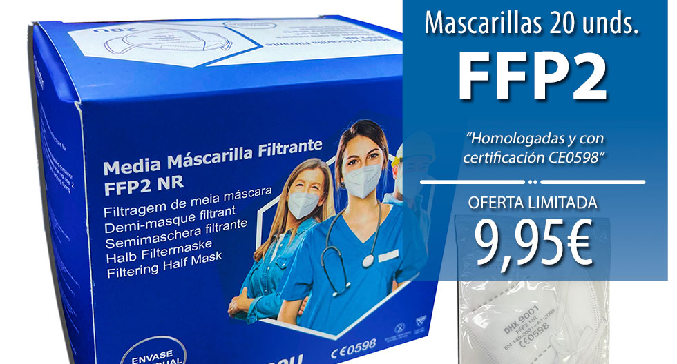 Caja 20 Mascarillas FFP2 Certificada CE0598